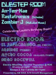 Electric Whomp flyer front