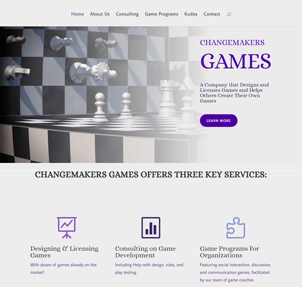 Changemakers Games Front Pg